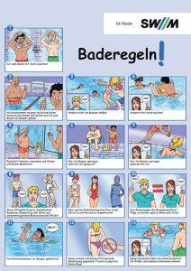 Baderegeln, SWM, M-Bäder, Verhaltensregeln in Bädern, Hallenbad, Hallenbäder, Freibad, Freibäder